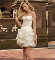Fashio New Vintage Short evening dress Sexy Tube Top White prom dresses 2014 vestido de festa party dresses robe de soiree E84