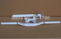 Aluminum Alloy MTB Bike Bicycle Handlebars Group Swallow-Shaped Handlebars/Stem/Seatpost 31.6mm Set White New