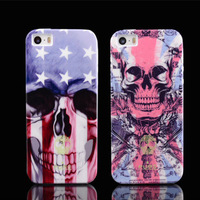 New Design For iPhone5 Case 5S Italy Just Cavalli Style Skull Print TPU Back Case Cover for iphone 5G 5S phone cases,freeshpping