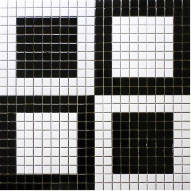White Floor Mosaic Tiles Ceramic Parquet Mosaics Puzzled Mirror Wall
