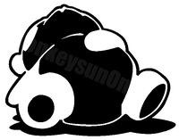 Car Sticker JDM DUB sleeping panda motorcycle waterproof stickers outdoor decal reflective stickers