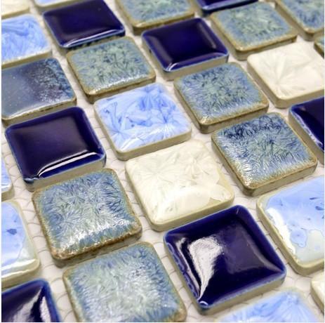 Mediterranean glazed porcelain tiles ceramic wall covering patterns cheap swimming pool tile uk kitchen backsplash mosaic tiles(China (Mainland))