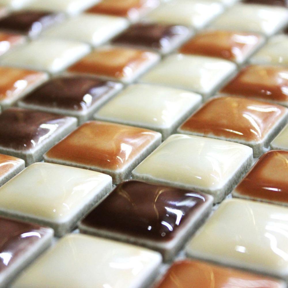 Mosaicos de caf de cer mica pan posterior del azulejo - Esmaltado de baneras ...