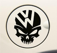 Free Shipping Style Car Stickers, Volkswagen Dedicated Car Styling , Skull Waterproof On Rear Windshield Door Tank Lid Sticker
