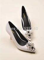 2014 elegant ladies banquet focus textured metal color jewel tipped stiletto pumps shoes