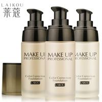 1pcs Whitening moisturizing liquid foundation concealer makeup foundation waterproof concealer cream Creme Makeup genuine water