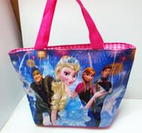 Frozen Handbags Princess Elsa Bag Waterproof bag double-sided Mommy Bags