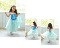 Frozen Elsa Dress NEW Children Girls Dress Princess Short-Sleeve Elsa Dress