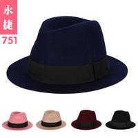 YJG-751 new winter wool hat female British Jazz flat bow wool wool hat