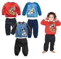 2014 autumn cotton terry sweater boy clothing sets children coat 2 PCS Free Shippinjg