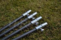 Carbon color fishing bank sticks  fishing rod pod for carp fishing tackle 4pcs/lot(50-90cm)