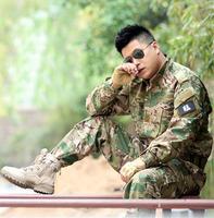 100% cotton camouflage suit CP camouflage field training military uniform (jacket+pants) tactical combat uniform CS airsoft suit