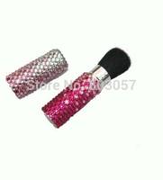 2014 Hot Free shipping(10pcs/lot) wholesale Fashion gradient colors diamante cosmetic brush