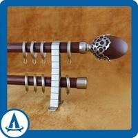 2014 new product high quality 1.5mm thick nano silencer aluminium roman curtain rod