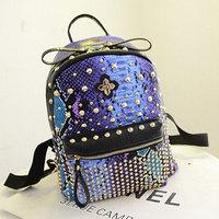 2014 Latest Snake Skin Women Backpack Trendy Rivet Teenager Girls School Bags PU Leather Mochila Backpacks WJ1027