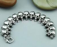 HOT SALE  Fine jewelry titanium steel jewelry retro cool skull Kito men bracelet New Year gift
