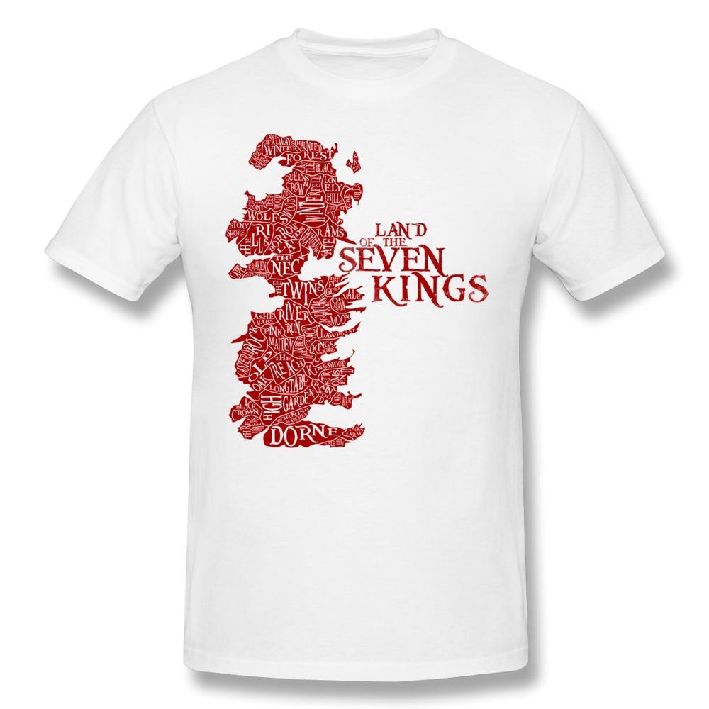New 2014 Casual Mens T Shirt Land of the Seven Kings Design T Shirts Men(China (Mainland))