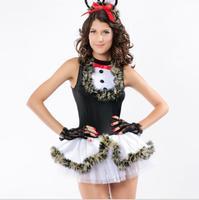 3pieces  Puff ladies sexy leopard cat Halloween Halloween costumes uniforms