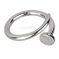 Hot Fine Screw Nail Finger Ring Fashion Korean Drama Couples Ring Silver #gib