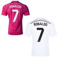 Free shipping 14 15  Ronaldo Marcelo Bale Benzama football shirt 2015 Real Madrid Jersey Top Thailand Quality Real Madrid Jersey