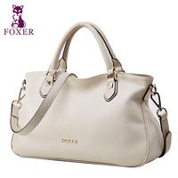 FOXER women handbag genuine leather bag fashion totes shoulder bags designer handbags women messenger bags vintage wristlets