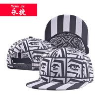 Korean hip-hop graffiti eyes flat hat   summer men and women fashion outdoor sunshade hip-hop hat sport cap