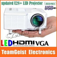 Brand NEW Updated UC28+ LED projetor Digital Home video Theatre games Projector support USB AV VGA HDMI SD & Remote Controllor