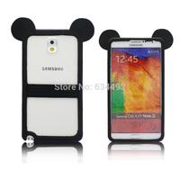 2014 New Cartoon Silicone Mickey's Ear Case For Samsung Galaxy Note 3 N900 N9000 N9005 Bumper Capa Celular