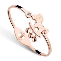 S74  rose gold bracelet female fashion  bell bracelet titanium gold bracelet bracelets for women
