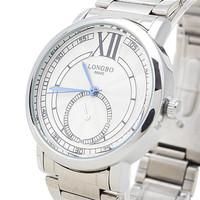 LONGBO Brand Men Business Fashion Watches, 100% Quality Assurance, Men's Waterproof Stainless Steel Quartz Watch, Free Shipping