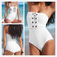 Best Professional swimwear Bathing Suit Women One Piece Swimwear,Modest Swim One Piece Swimsuit Piece,White Bandage Swimsuit