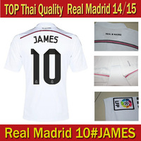 freeshipping 14 15 real madrid home away pink soccer jersey thai quality 2014 2015  RONALDO BALE JAMES KROOS footballshirt