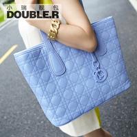 Macaron one shoulder big bags 2014 women's handbag plaid bag fashion vintage bag