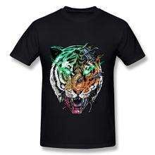Printing Short Sleeve T Shirt Mens killer machine Tiger Cool Picture Man T Shirts 2014 Fashion