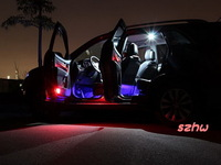 Super bright Automotive changeable 7 colors ambient lighting, 4 pcs*6 LEDs, 5050 SMT, with keychain remote controller