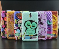For Sony Xperia E1 case Cute sleep owl flower soft TPU cell phone back cases covers for Sony Xperia E1 D2005 D2105 D2114