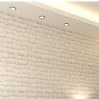 Velvet wallpaper modern,  Non woven wall paper roll for walls, White wallpaper for bedroom
