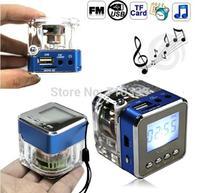 10pcs NiZhi TT028 Mini Portable Speaker Micro SD/TF Music MP3 Player USB Disk FM Radio Blue Free Shipping Wholesale