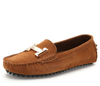 Brand Luxury Comfortable Genuine Leather Suede Velvet Loafers Ladies Driving Shoes Flats Mocassin Female Footwear Slip-on