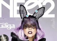 Lady gaga lace rabbit bunny ears veil hair bands black mask Christmas halloween party (B079)