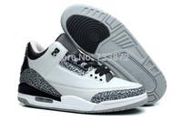 Good quality men/women unisex retro 3 wolf grey silver J3 basketball shoes for sale
