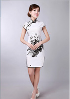 2014 new Women's Fashion beautiful Short Cheongsam Dragon&Phoenix QiPao Dress size :S-XXL