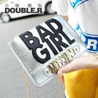 Mini fashion cross-body bags 2014 women's handbag vintage letter day clutch chain bag