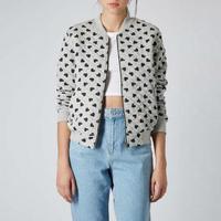 New 2014 Fashion Lady Women Floral Baseball Jackets Short Coat #62976