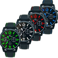 2014 New Arrival 1PC Men Fashion Stainless Steel Sport Cool Quartz Hours Wrist Analog Watch Free Shipping&Wholesale