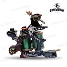 Tattoo gun Dragonhawk tattoo Machine Premium Iron 10 Wrap Shader and  Liner  WQ4880(China (Mainland))