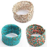 Superb! 2014 New 1PC Chic Women Fashion Bohemian Beads Beaded Bracelet Chain Open Design  Free Shipping&Wholesale Alipower