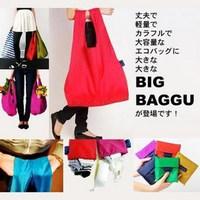 10pieces/lot BAGGU square pocket Shopping bag ,Candy colors available Eco-friendly reusable folding handle nylon Bag 57*33cm TP9