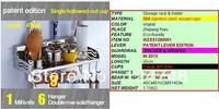 100% 304S/S storage racks  40cm longth fashinalbe storage holder& rack shelf in kitchen,free shipping