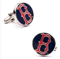 Boston Red Sox style Cufflinks Best Man Groomsmen Wedding Gift